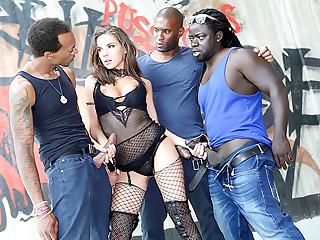 Henessy's Big Black Cock Gangbang