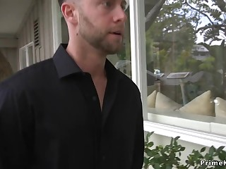 College guy anal fucks Deans wife in bondage