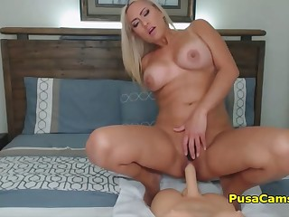 Hot Blonde Milf With Big Tits Fucking With Doll