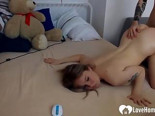 Kinky ex gf has fun with a stiff dick