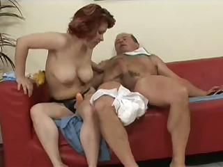 Hot milf taking care of big dick