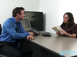 Busty Office Bitch Gets a Pounding