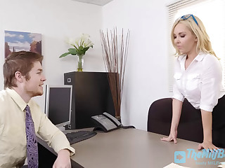 Blonde Whore Fucked Hard in the Office