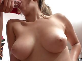 Cute Teen Holly Michaels Swallows A Big Dick