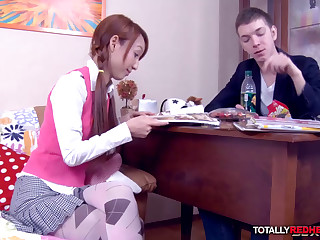 Ginger Schoolgirl Banged by a Professor