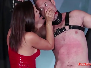 Face-sitting scene with a nasty mistress
