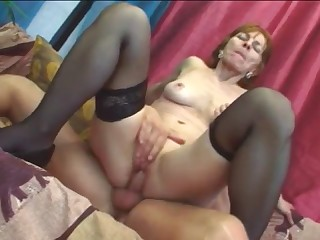 Mature chick riding monster cock