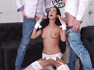 Young Courtesans - Angie Moon - Hot courtesan teasing two guys