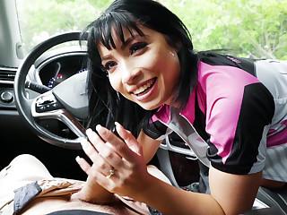 Stranded Teens � Half Asian Cutie Fucks for Ride