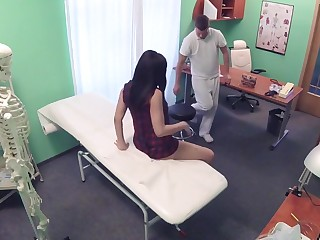 Fake Hub - Shy Brunette Has Explosive Orgasms