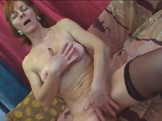 Busty Granny Ivet Takes Younger Cock On Couch