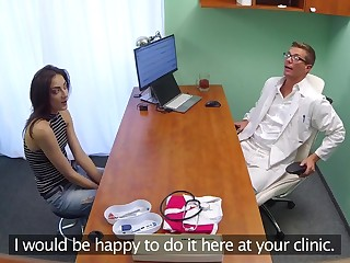 Minx sucks and fucks to get a job