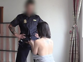 Bootyful Spaniard Rides Cops Cock