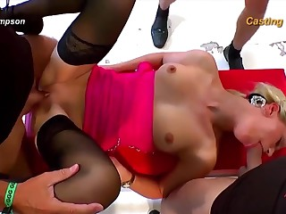 Sexy little blondie loves it