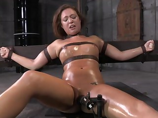 Maddy O'Reilly Gets Throat Boarded By 2 Huge Cocks