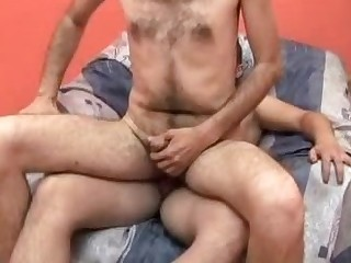 Hairy Gay Rides Cock