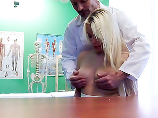 Doctor Helps Blonde Get a Wet Pussy