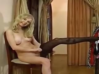 Paulina A in pantyhose movie