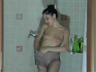 Sophy in pantyhose video