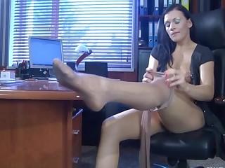 Sibylla pantyhose tease video