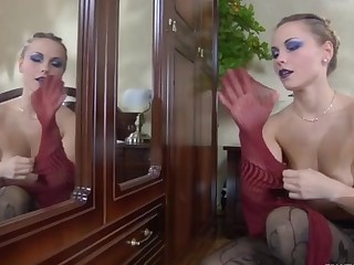 Blanch pantyhose tease video