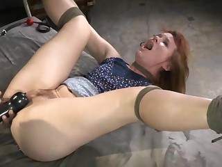Redhead Claire Robbins Bound and Banged
