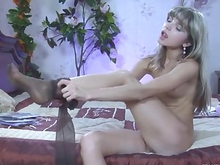 GinaGerson in naughty pantyhose video