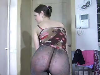 Colette videotaped while wearing pantyhose