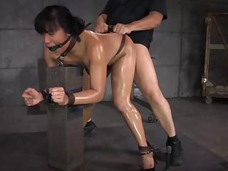 Mia Li Gets Bred by 2 Cocks