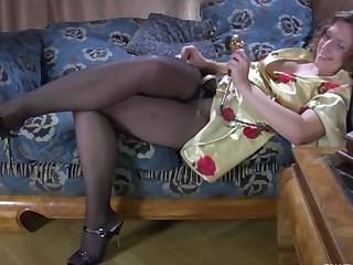 Jaclyn in hot pantyhose video