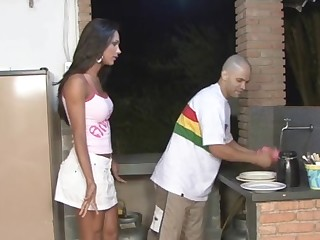 Leticia and Tony shemale fucks guy action