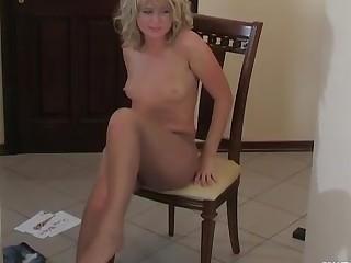 Gertrude posing in pantyhose