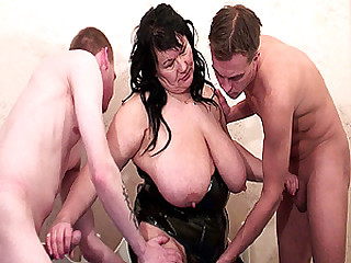 extreme sex orgy with bbw stepmom