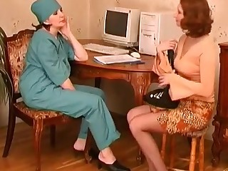 Laura and Irene pussyloving mature in action