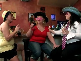 Fat party girl gets a good pounding