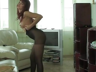 Trudy videotaped while wearing pantyhose