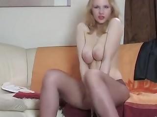 Natalie pantyhose tease video
