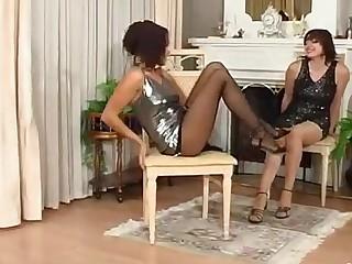 Mirabel and Deborah naughty pantyhose movie