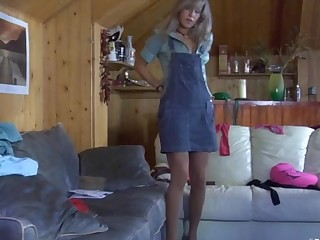 Nora in pantyhose action