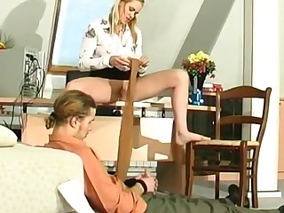 Susanna and Mike cool anal pantyhose video