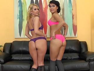 Pornstars Aaliyah Love and Mia Austin LIVE