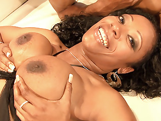 Cherokee hot big black tits action