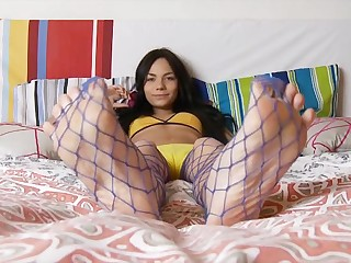 Fishnet princess goes crazy