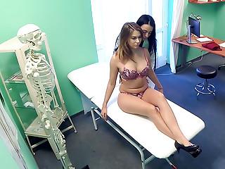 Sexy horny nurse seduces patient