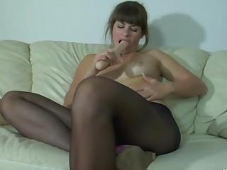 Gloria and Vitas sexy anal pantyhose video