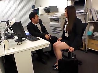 Hot Japanese AV Model Is A Hot Office Lady Getting Banged