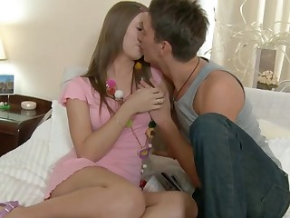 Louise - Sweet Brunette Takes Anal