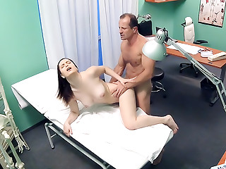 Double cumshot for petite Russian