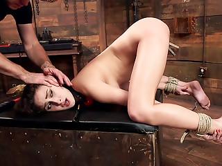 Ashley Adams' Slave Desires Training Ashley Day One