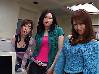 Naughty Trio Of Asian Office Workers Get Fucked Hard